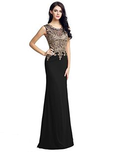 fd30c6f4712c Amazon.com  Shine Love Black Prom Dresses Long Crystal for Women Evening  Gowns  Clothing