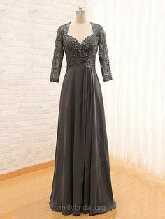 Long Sleeves Dark Grey Mother of Bride Dress.The professional tailors from wedding dress manufacturer custom this mother of the bride dress with any sizes and many other colors.Contact us to shop fashion cheap wedding guest dress online. Modest Homecoming Dresses, Short Graduation Dresses, Green Bridesmaid Dresses, Prom Dresses Long With Sleeves, Prom Dresses 2017, Lace Evening Dresses, Bride Dresses, Fall Dresses, Dress Long