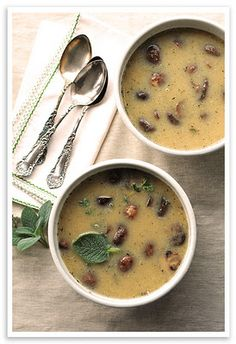 White Bean and Roasted Mushroom Soup - South Beach Diet