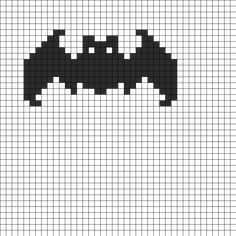 Bat fuse bead pattern bead pattern - could be used for cross-stitch Simple Cross Stitch, Cross Stitch Charts, Cross Stitch Designs, Cross Stitch Embroidery, Cross Stitch Patterns, Fuse Bead Patterns, Loom Patterns, Perler Patterns, Beading Patterns