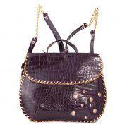 Woman Backpack - Woman Bag - Borsa da donna - Zaino Scudo - Italian Bag Store - MADE IN ITALY - 100% pelle di vitello stampato Fodera con motivo floreale 100% cotone
