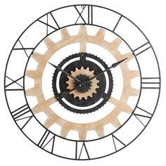 Horloge à rouages en métal noir | Maisons du Monde