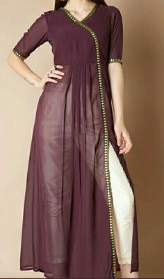 Plain Kurti Designs, Simple Kurta Designs, Kurti Neck Designs, Dress Neck Designs, Kurta Designs Women, Designs For Dresses, Pakistani Fashion Party Wear, Pakistani Dresses Casual, Indian Gowns Dresses