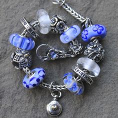 Blue bracelet with Mountain Crystals #ShadyLane_Gifts