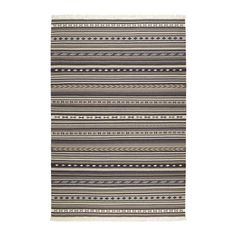 IKEA - KATTRUP, Rug, flatwoven, 140x200 cm, , Handwoven by skilled craftspeople, each one is unique. Made in India in organised weaving centres with good working conditions and fair wages.The durable, dirt-resistant wool surface makes this rug a suitable choice for your dining or living room.The rug has the same pattern on both sides, so you can turn it over and it will withstand more wear and last even longer.Easy to vacuum thanks to its flat surface.