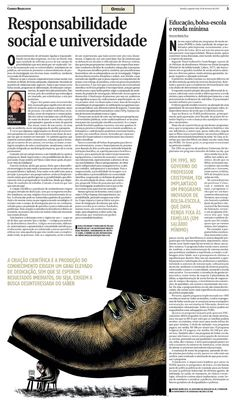 Op-Ed page. Awarded by SND (Society for News Design) by Ricardo Cunha Lima #scratchboard
