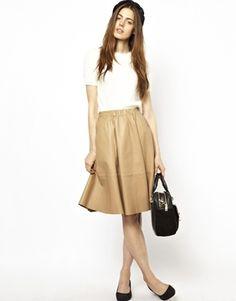Midi Khaki Skirt - Dress Ala