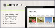 Buy Adeodatus - Responsive Business Theme by different-themes on ThemeForest. Adeodatus is fully responsive wordpress theme whith latest techniques with an accent on business, agency,. Admin Panel, Wordpress Theme Design, Layout, Marketing, Business, Blog, Themes Free, Contact Form, Google