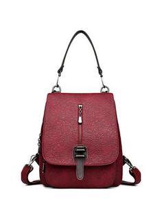 af072eaa3f ladies shoulder bag female bag fashion wild PU soft leather backpack ...