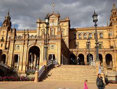 Seville, Spain: a city filled with gorgeous, historic architecture; Seville's Plaza de Espania