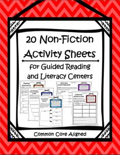 Common Core Non-Fiction Activity Worksheets.  These can turn any Non-Fiction text into a student center!