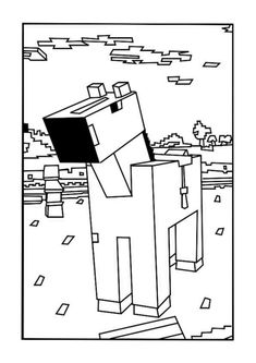 A Minecraft Horse coloring page