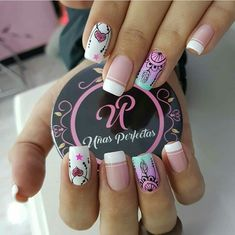 Hermosas!! Cute Nail Art, Cute Nails, Pretty Nails, Winter Nails, Spring Nails, Unicorn Nails, Creative Nails, Nail Arts, Manicure And Pedicure