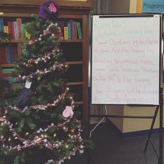 Help the library give back to the community. Donate to our Christmas Giving Tree to spread holiday joy this year!