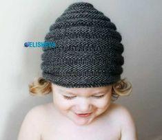 Детская шапочка «Улей», вязаная спицами | Блог elisheva.ru