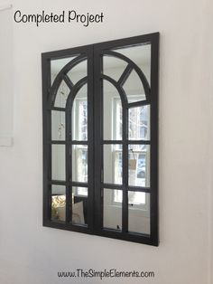 Window-framed mirrors