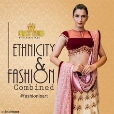 Get yourself an exclusive ensemble designed with a combination ethnicity and style and make your celebrations merrier. Exclusive Collection, Designer Dresses, Celebrations, Ethnic, Two Piece Skirt Set, Sari, Photo And Video, Studio, Womens Fashion