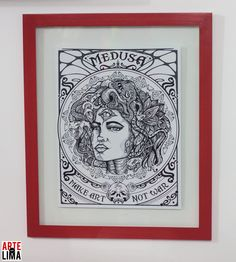 MEDUSA #art #graphic #poster #design #illustration #medusa #paint #ink