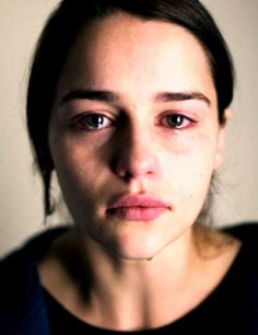 """ch. 12 """"Her red eyes and tear stained face tears at my heart and I feel the pain she's feeling."""": Face, Girl, Emilia Clarke Photo, Beauty Emiliaclarke, Emilia Clarke Khaleesi, Vulnerable Portrait, Portraits, Photography, Eye"""