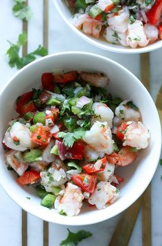 Shrimp Ceviche - Whole30 approved, Paleo, Gluten & Dairy free.