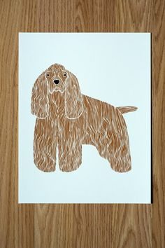 Cocker Spaniel Illustration by Gingiber on Etsy