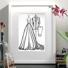 """Just WOW! I am so glad I found you, they absolutely love their illustration. It's beautiful in real life."" My customers send me lovely emails. €45 OFF 'til January 15th. Best offer EVER. I rarely do sales but thought it was a really nice way to kick off 2021. If you have a wedding or anniversary coming up now would be the best time to secure your free framing worth €45. www.weddingdressink.com #weddingdressink #januarysale #artsale #luxurygiftvoucher #insta_ireland"