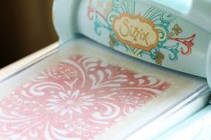 Using a stencil to emboss