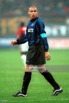 eigentlich Ronaldo Luis Nazario de Lima* Sportler, Fussball Brasilien(Inter Mailand)als Spielführer im Spiel
