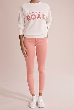 Sateen Jean Shoe Size Conversion, Online Purchase, Skinny Legs, Wardrobe Staples, Active Wear, Graphic Sweatshirt, Sweatpants, Clothes For Women, Sweatshirts