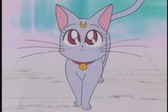 """Diana is the daughter of Luna and Artemis in the future, as well as Chibiusa's advisor. Diana's name is a variation of her father's name, Artemis. Artemis is named after the Greek Goddess of the hunt and the moon, and its Roman equivalent is """"Diana"""". Sailor Neptune, Sailor Saturn, Luna Sailor Moon, Sailor Mars, Moon Images, Moon Photos, Persona Anime, Luna And Artemis, Sailor Moon Screencaps"""