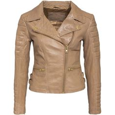 Primeboots Prime Tog Anita Gold Zip ($275) ❤ liked on Polyvore featuring outerwear, jackets, coats & jackets, beige, womens-fashion, tall jackets, collar jacket, embellished jacket, button jacket and zipper jacket