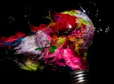 Exploding Light Bulbs Filled with Random Things