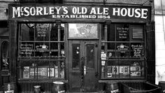 McSorley's Old Ale House, established 1854, NYC. A working-man's bar. (In fact, it took the Supreme Court until 1970 to rule to allow women inside this place. Wow.)