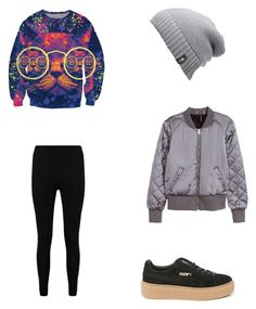 Bez tytułu #51 by wiki208 on Polyvore featuring moda, H&M, Boohoo, Puma and The North Face