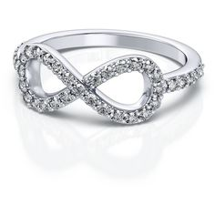 .39ctw Fashion Infinity Round Cut Diamond Ring in 14k White Gold VS... ($999) ❤ liked on Polyvore featuring jewelry, rings, accessories, bracelets, infinity bracelet, pandora jewelry, bracelet ring, round diamond ring and 14k white gold ring