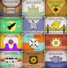 Game of Thrones house sigils for other TV families