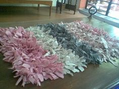Rag rug. Lots of good ideas through this site.