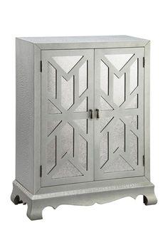 Textured Silver Cheval Mirrored Cabinet by Stein World on @HauteLook