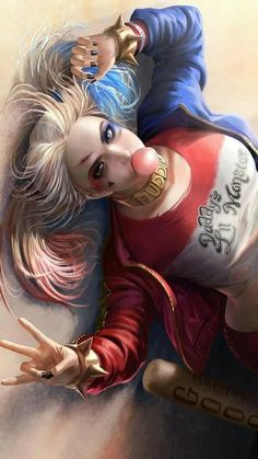 Wallpaper Harley quinn, Suicide Squad, art, Margot Robbie, Best Movies of Movies Joker Y Harley Quinn, Harley Quinn Drawing, Harley Quinn Cosplay, Margot Robbie Harley, Harely Quinn, Daddys Lil Monster, Comics Girls, Dc Comics, Anime Art Girl