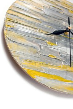 Modern Abstract WALL CLOCK Unique DESIGN silver grey by PilipArt, $58.00