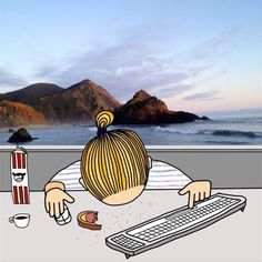 """""""There are crumbs in my keyboard so the keys doesn't work"""", a first world problem I discovered the other day. ________________________________________ #firstworldproblems #ilandsproblem #problem #illustration #procreate #keyboard #california #bigsur #pfeifferbeach #breakfast #milk #hipster #manbun #graphicdesign #doodle #drawing #teckning #frukost #creative #nilssjoberg #gif #mixedmedia #modernrt #digitalart #thestruggleisreal #livetpålandet #psykbryt #countrylife #sunday #sundaymorning…"""