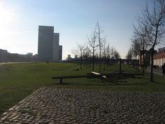 Park Spoor Noord (Antwerp, Belgium) Sidewalk, Bucket, Park, Side Walkway, Walkway, Parks, Buckets, Aquarius, Walkways