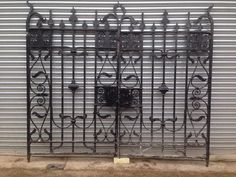 Reclaimed Pair Of Period Hand Forged Wrought Iron Gates - 260 cm