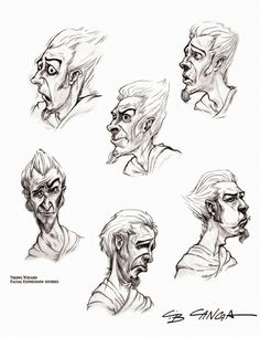 Cool #Illustrations #Facial #Expressions | repinned by www.BlickeDeeler.de