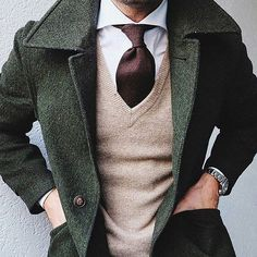 this green coat is everything