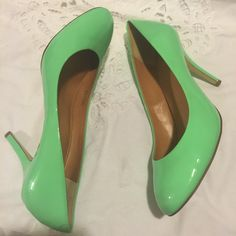 J.Crew heels Worn once, mint color, made in Italy, very fancy and chic!!! No trade/pp J. Crew Shoes Heels