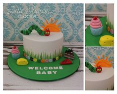 The Very Hungry Caterpillar Welcome Baby Cake by Belle Maison Cakes, Brisbane Queensland, Australia. You'll find this Cake Appreciation Society Member in our Directory at www.cakeappreciationsociety.com