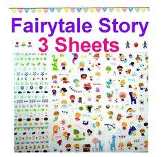 Fairy tale cartoon story stickers snow white by StickersKingdom
