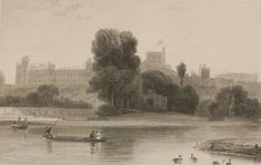 Antique print, Victorian, an engraving published in 1840 titled Windsor Castle. The work was engraved by C Armytage. Windsor Castle, Antique Prints, See Picture, Victorian, Antiques, Pictures, Painting, Art, Antiquities