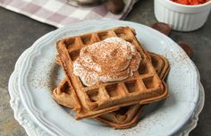 A Paleo life doesn't mean a life without waffles! These Grain-Free Carrot come together with chestnut flour to create a fluffy waffle.
